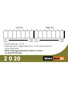 2020 Hearing Test Cards - Sold by Bundles of 100