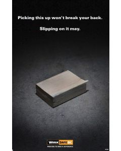 Picking this up won't break your back.  Slipping on it may. (Wood-version)