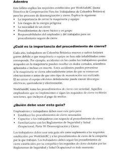 Lockout - Spanish