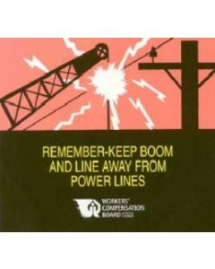 Remember-Keep Boom & Line Away From Power Lines