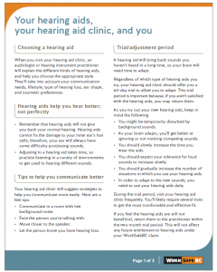 Your Hearing Aids, Your Hearing Aid Clinic, And You