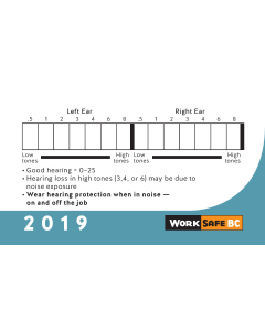 2019 Hearing Test Cards - Sold by Bundles of 100
