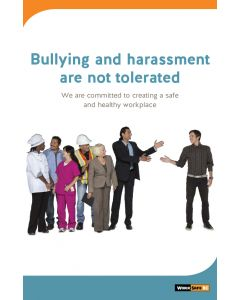 Bullying and harassment are not tolerated poster