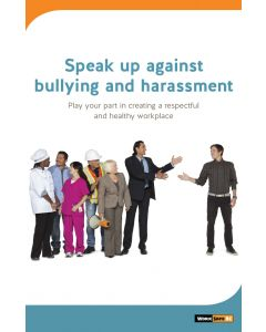 Speak up against bullying and harassment poster