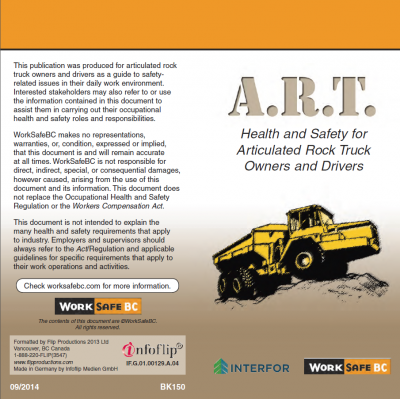 Health and Safety for Articulated Rock Truck Owners and Drivers